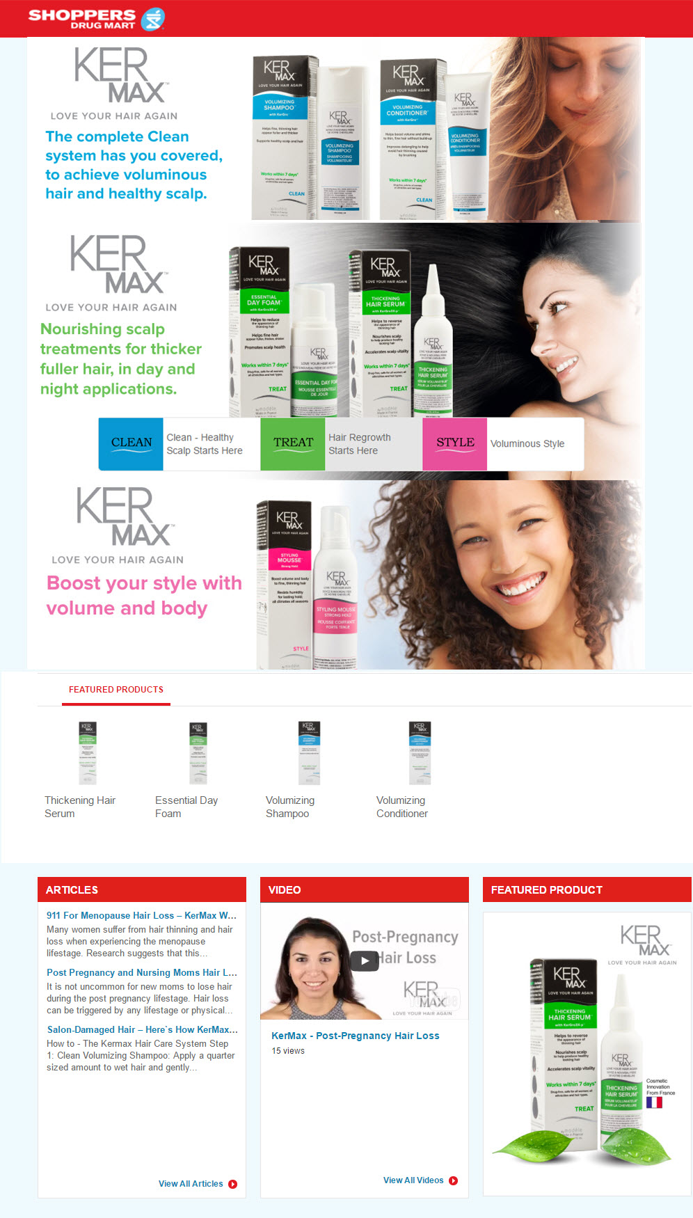 Shoppers Drug Mart Hair Growth Products